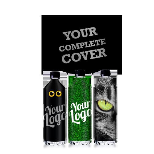 Logovand med stor opmærksomhed - Din reklame over hele flasken