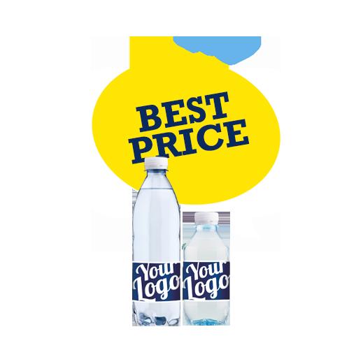 Best Price logovand - Reklamevand - Vandflasker med dit logo