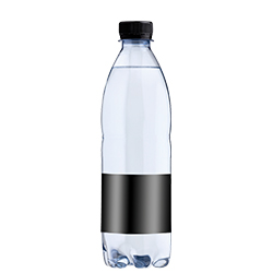 Reklamevand kildevand fra Aqua d'Or med logo til private label