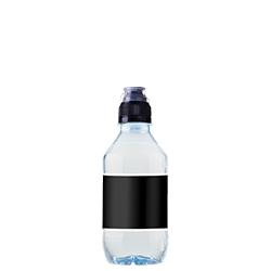 Reklamevand vandflaske med Aqua d'Or kildevand som private label